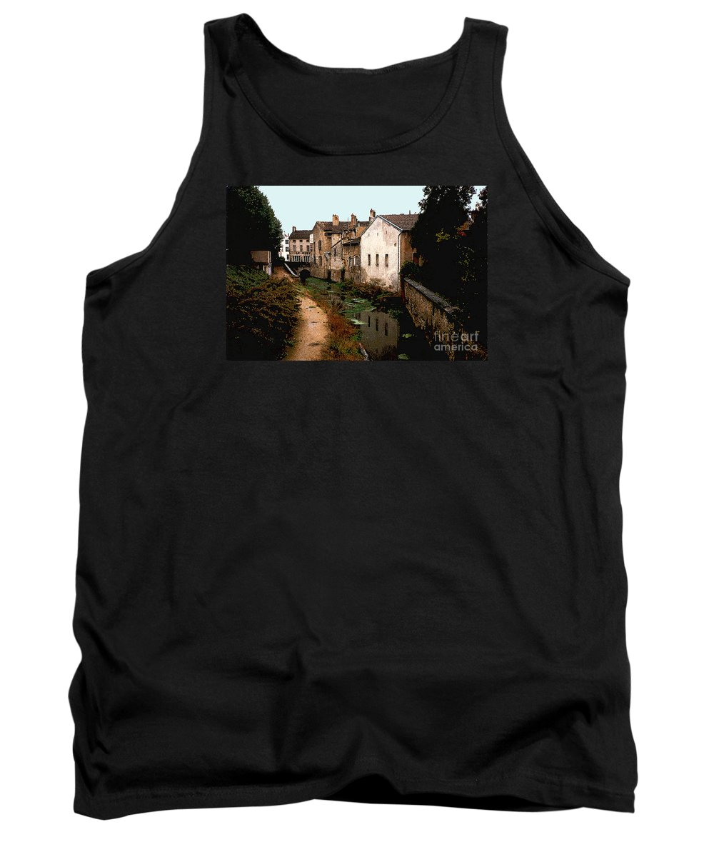 France Tank Top featuring the photograph Loire Valley Village Scene by Nancy Mueller