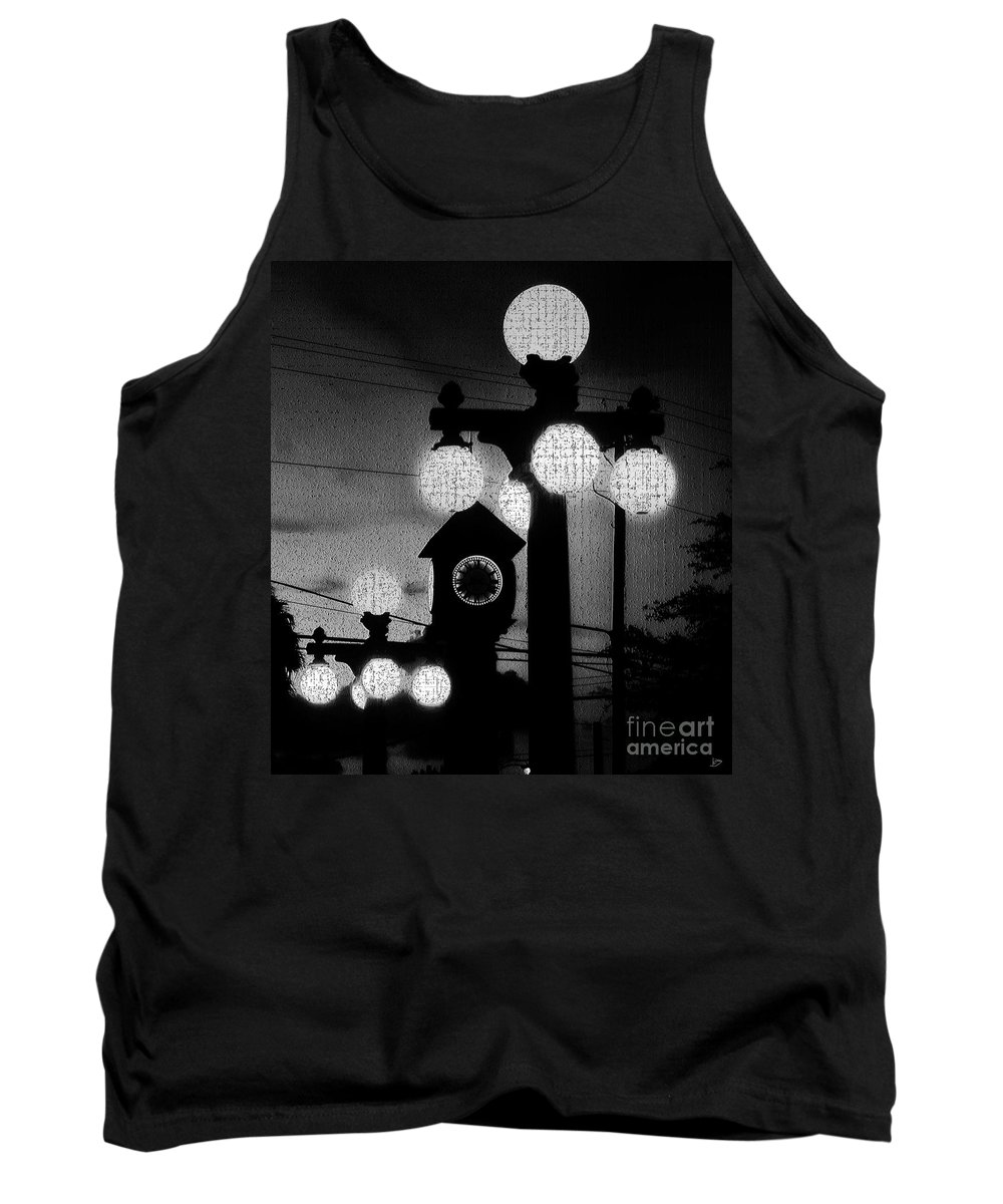 London England Tank Top featuring the painting London Calling by David Lee Thompson