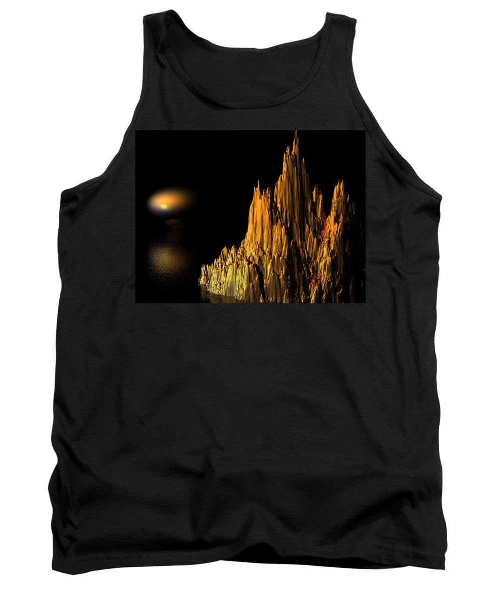 Surreal Tank Top featuring the digital art Loneliness by Oscar Basurto Carbonell