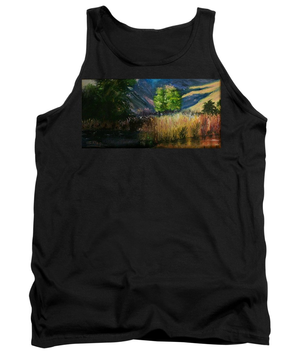 Landscape Tank Top featuring the painting Long Shadows by Stephen King