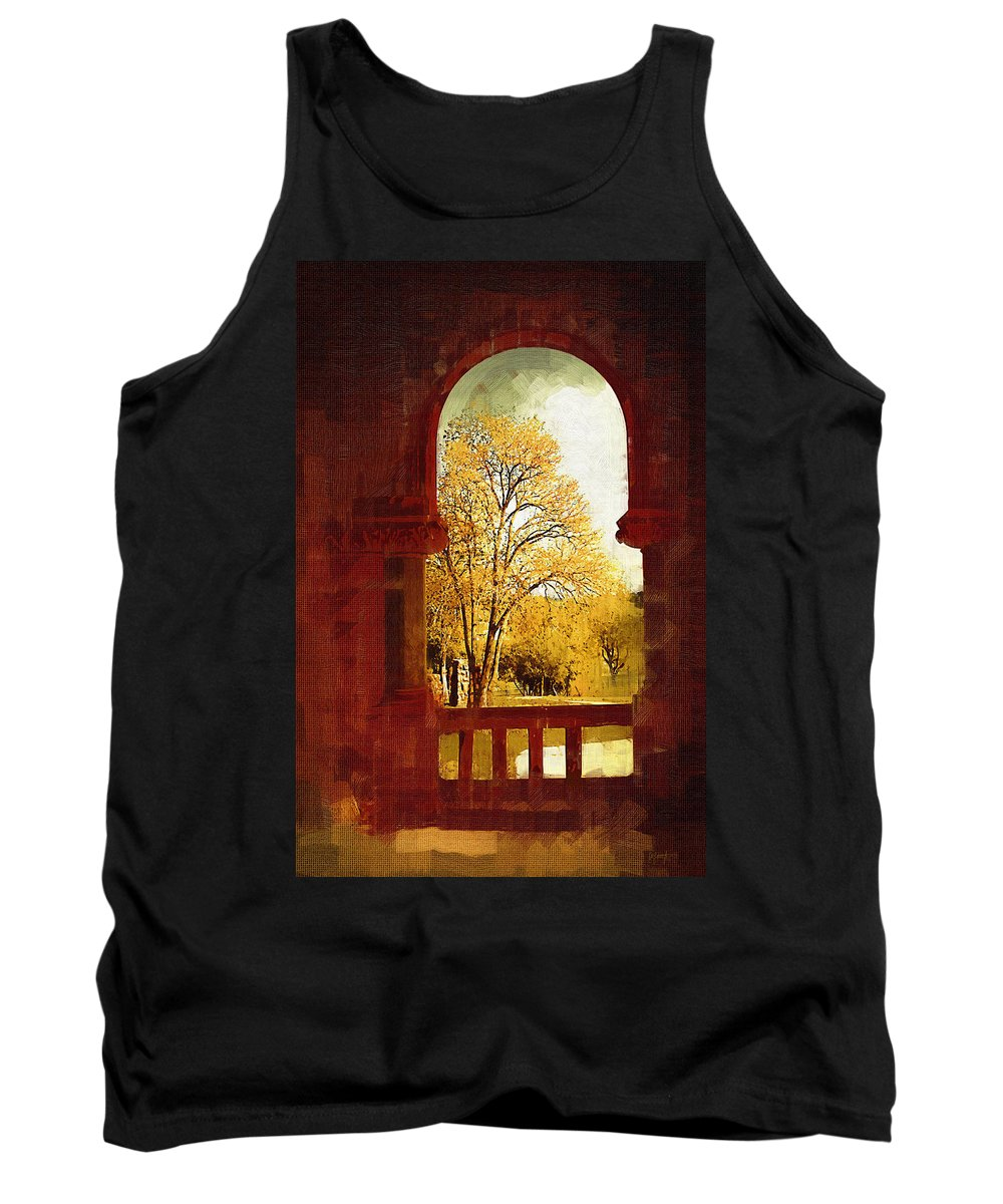 Preston Castle Tank Top featuring the digital art Lookin Out by Holly Ethan