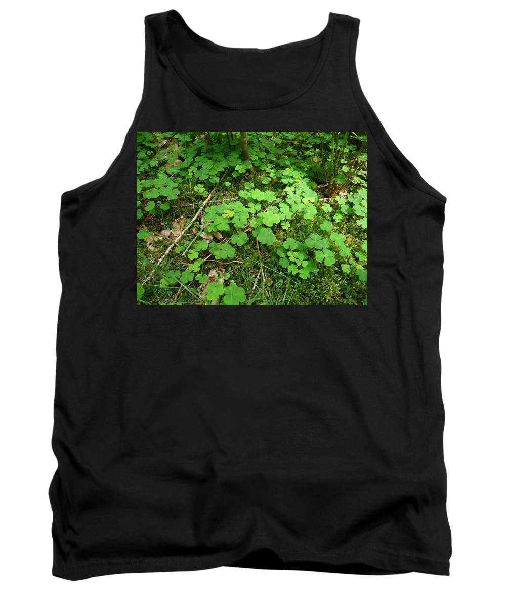 Clover Tank Top featuring the photograph Looking For A Four-leaf Clover by Valerie Ornstein