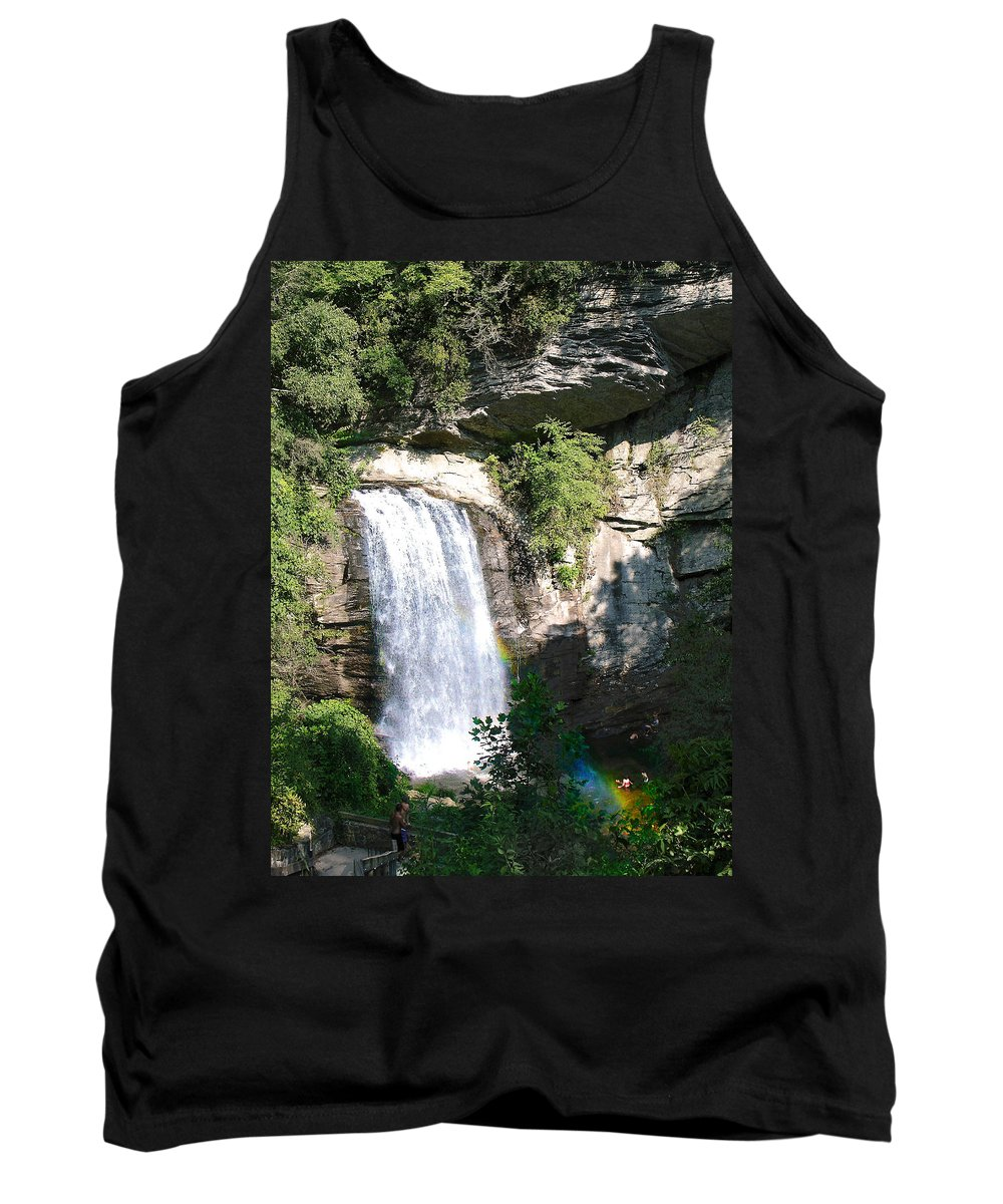 Landscape Tank Top featuring the photograph Looking Glass Falls Nc by Steve Karol