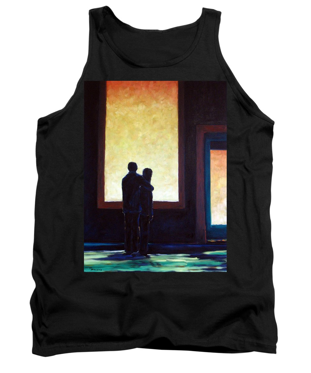 Pranke Tank Top featuring the painting Looking In Looking Out by Richard T Pranke