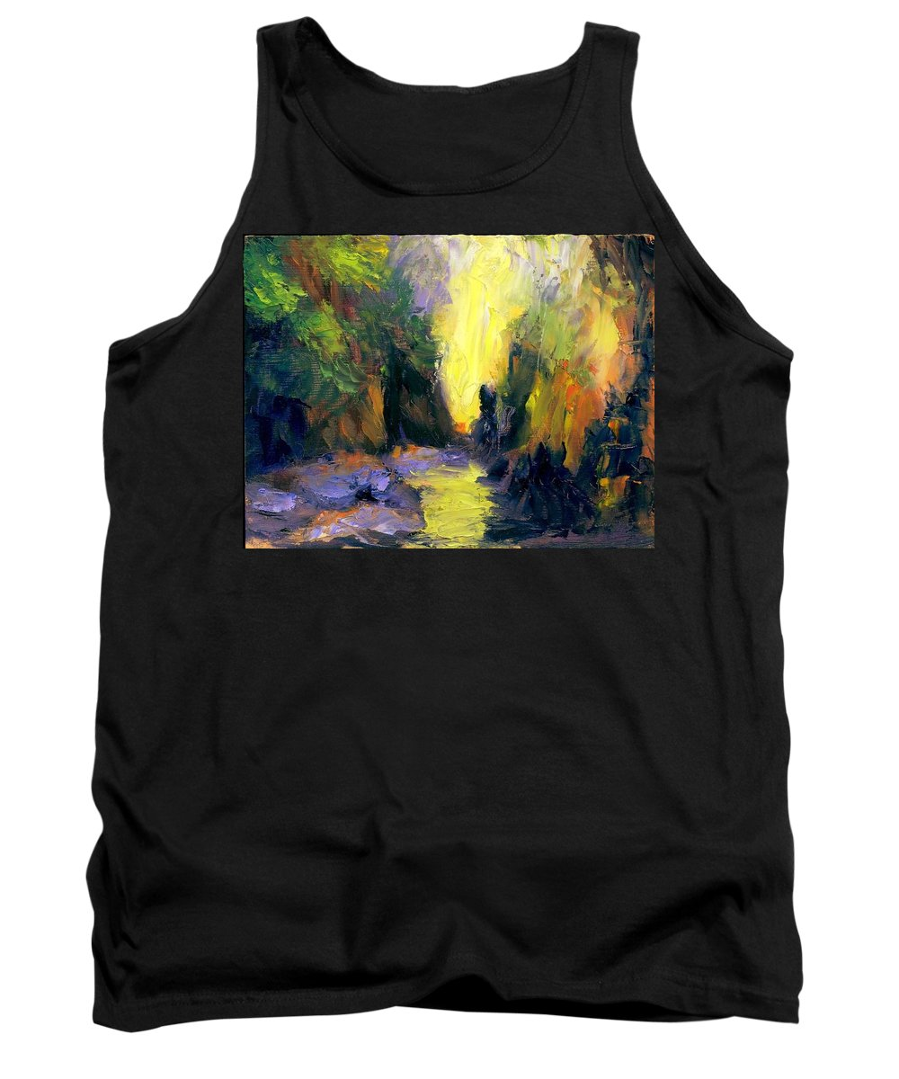 Landscape Tank Top featuring the painting Lost Creek by Gail Kirtz