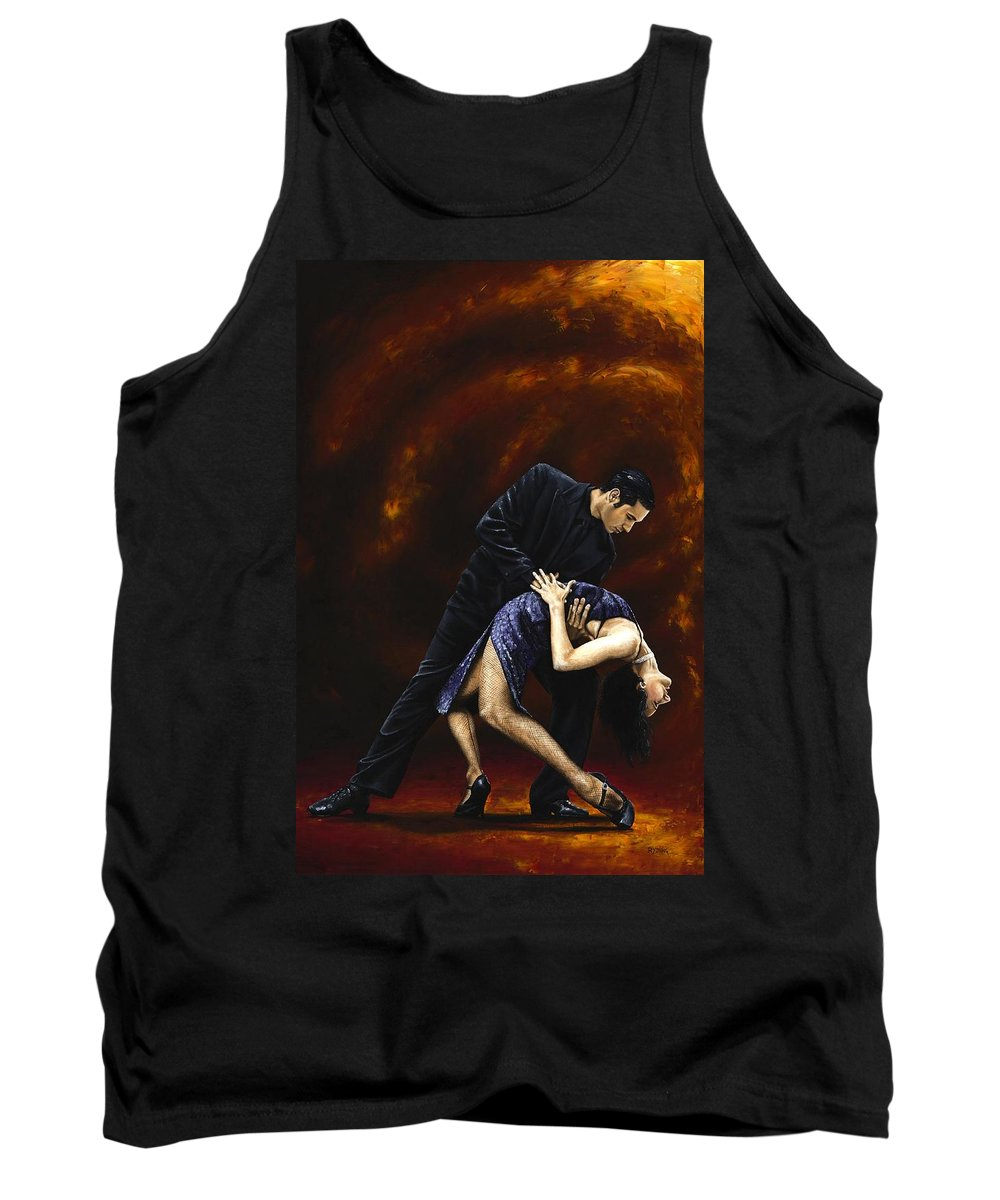 Tango Tank Top featuring the painting Lost In Tango by Richard Young