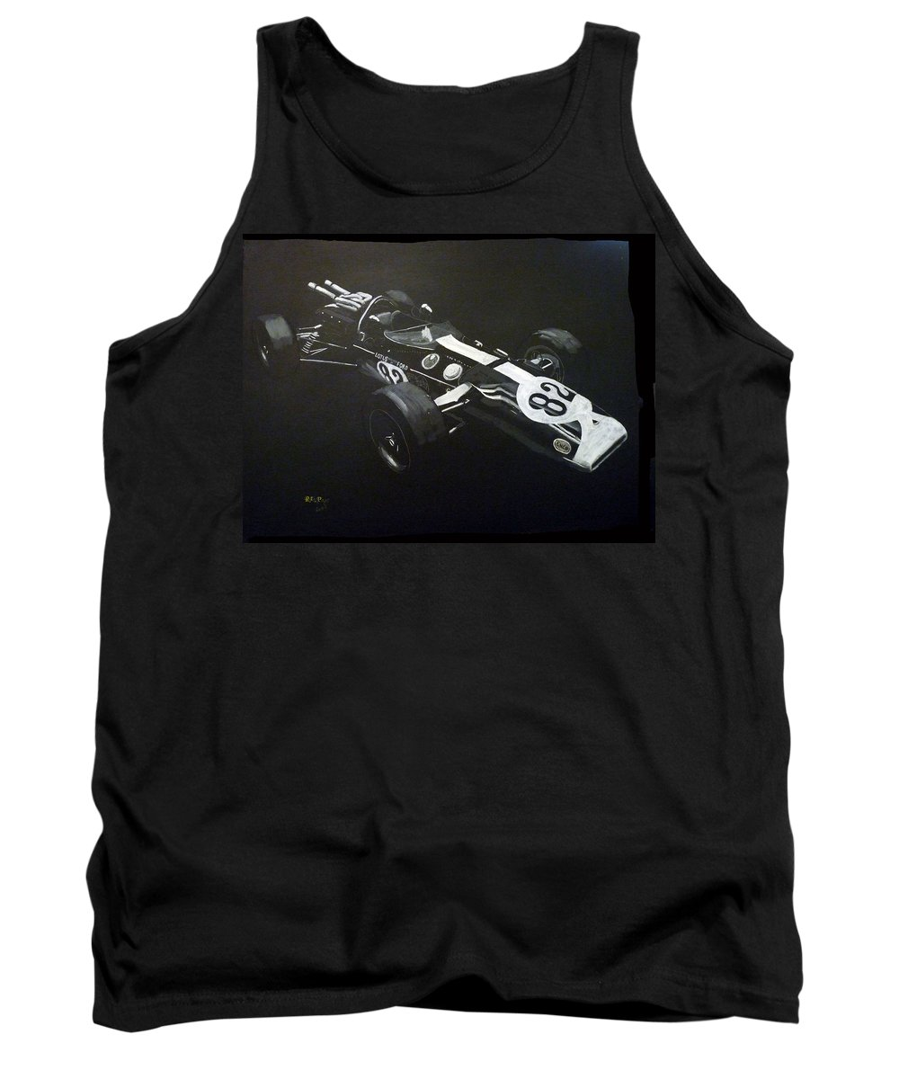 Lotus 38 Tank Top featuring the painting Lotus 38 No82 by Richard Le Page