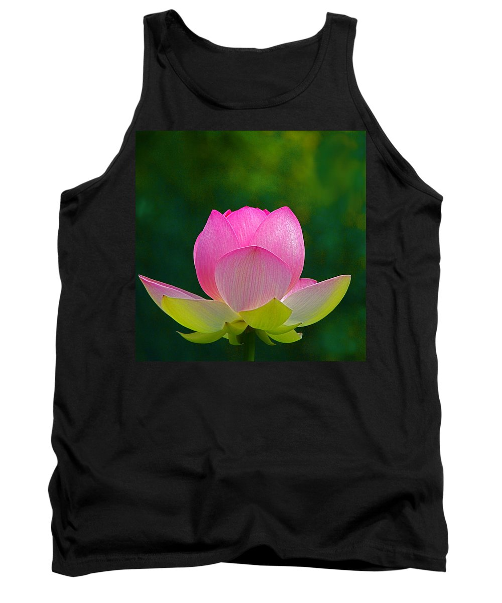 Flower Tank Top featuring the photograph Lotus Blossom 842010 by Byron Varvarigos