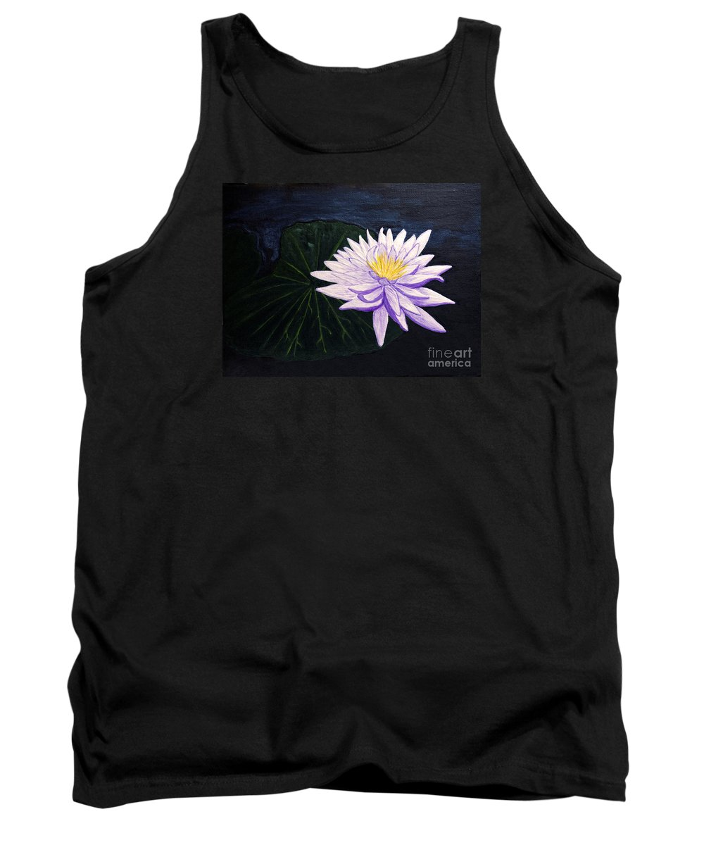 Original Painting Tank Top featuring the painting Lotus Blossom at Night by Patricia Griffin Brett