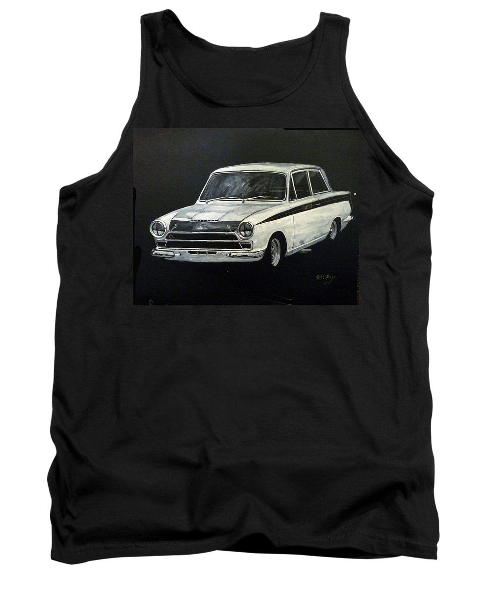 Lotus Cortina Tank Top featuring the painting Lotus Cortina by Richard Le Page