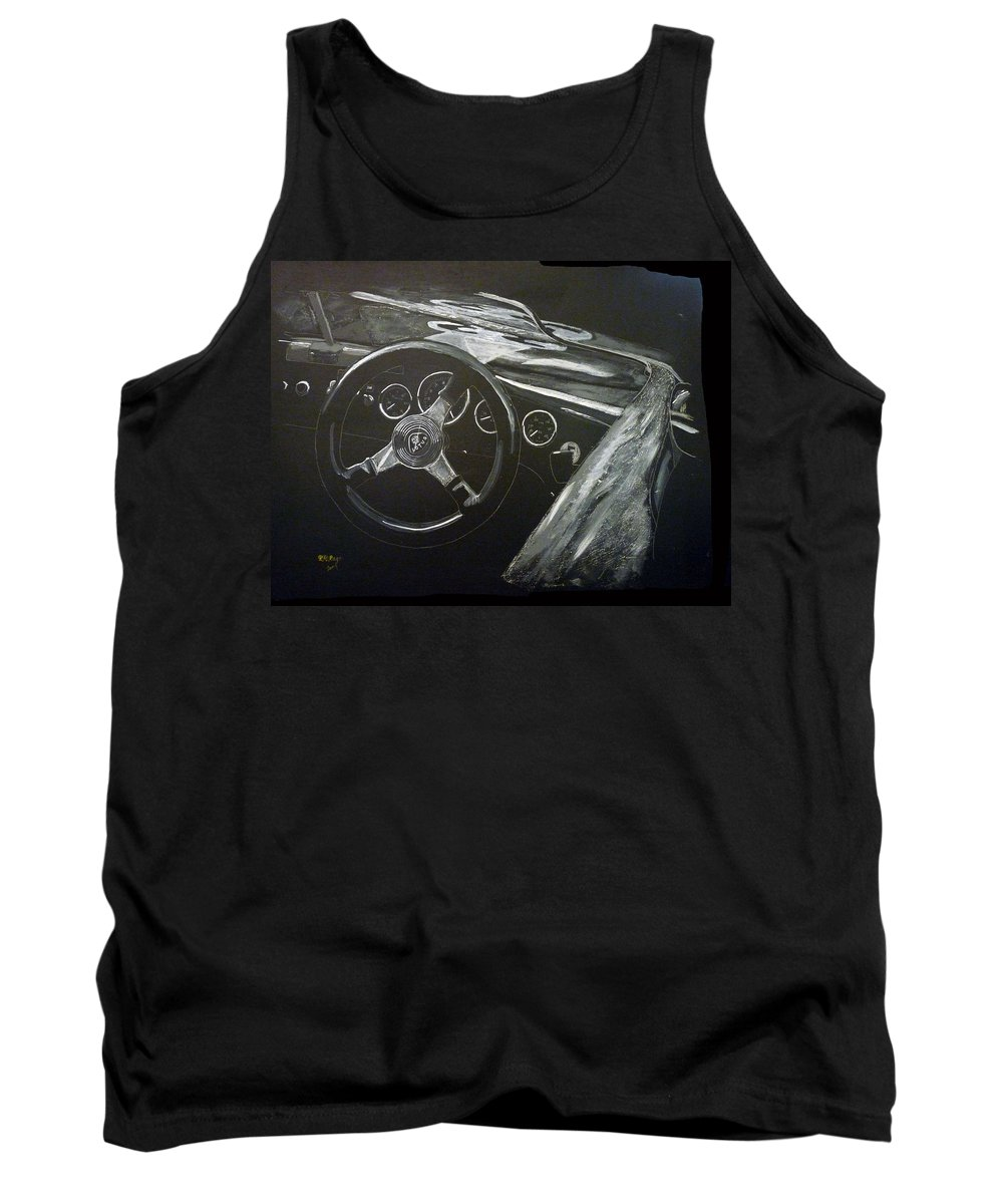 Lotus Eleven Tank Top featuring the painting Lotus Eleven by Richard Le Page
