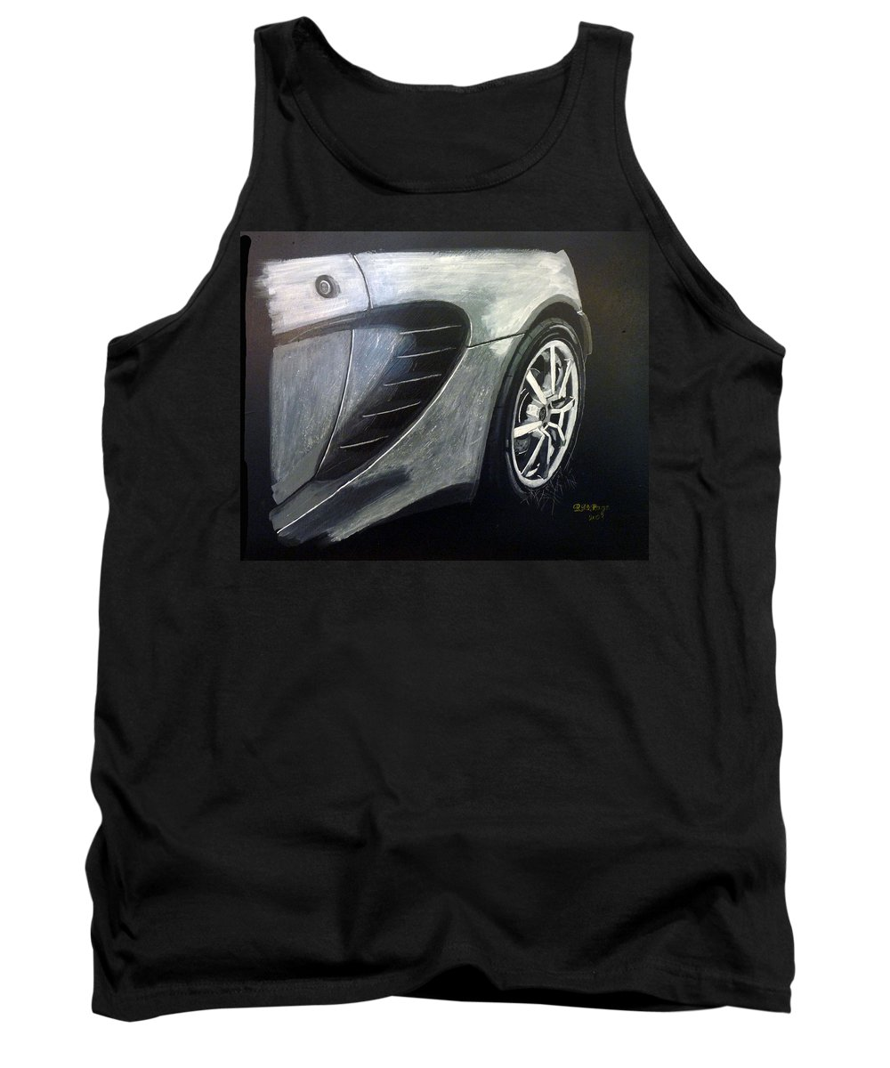 Lotus Exige Tank Top featuring the painting Lotus Exige Rear Side by Richard Le Page