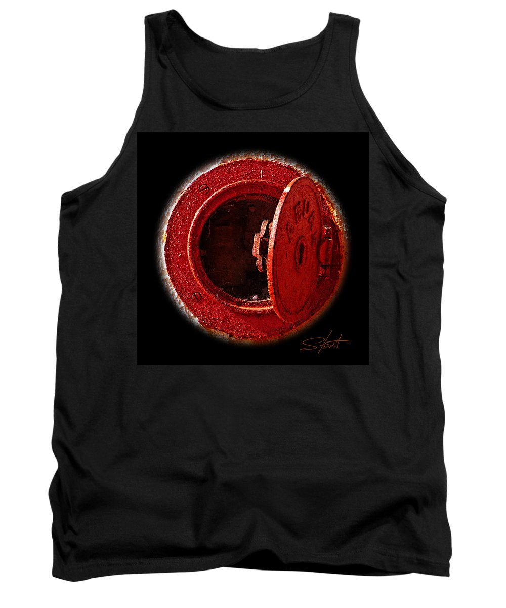 Manhole Tank Top featuring the photograph Love Hurts by Charles Stuart