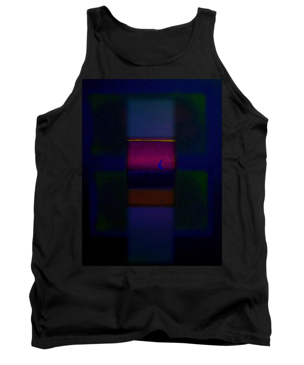 Rothko Tank Top featuring the painting Love Is Blue by Charles Stuart