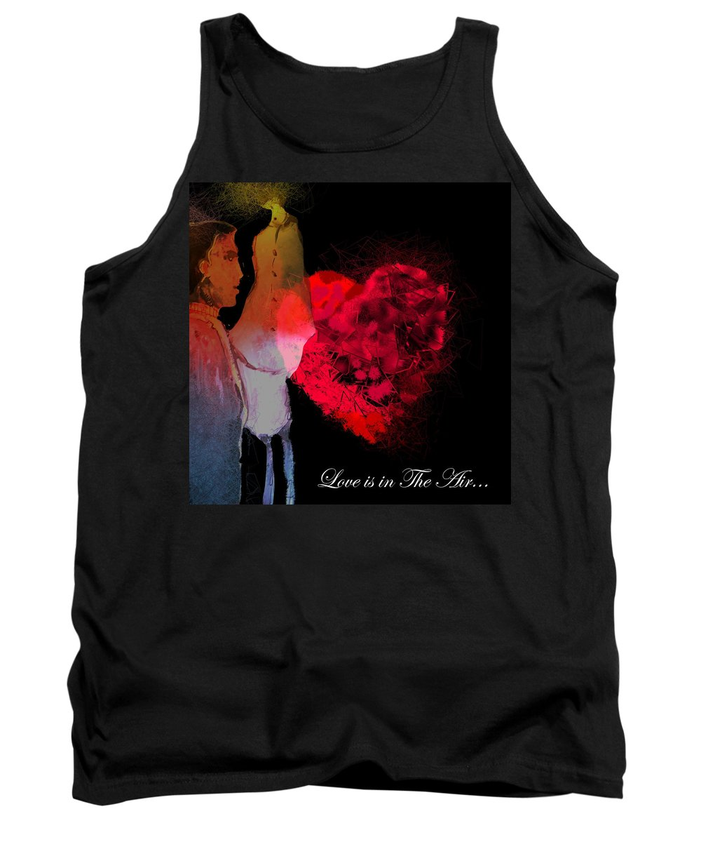 Love Tank Top featuring the painting Love Is In The Air by Miki De Goodaboom