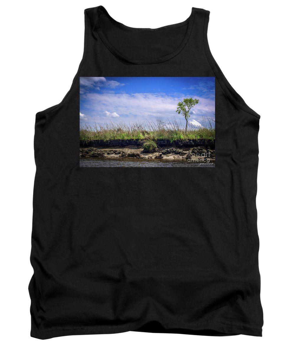River Tank Top featuring the photograph Low Tide II by Yvette Wilson