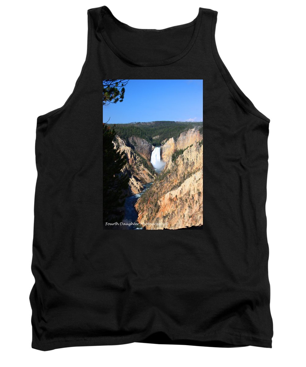 Wyoming Tank Top featuring the photograph Lower Falls @ Yellowstone National Park by Diane Shirley