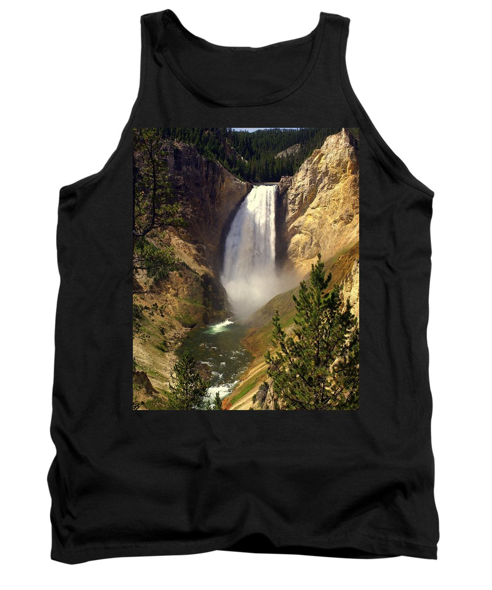 Waterfall Tank Top featuring the photograph Lower Falls by Marty Koch