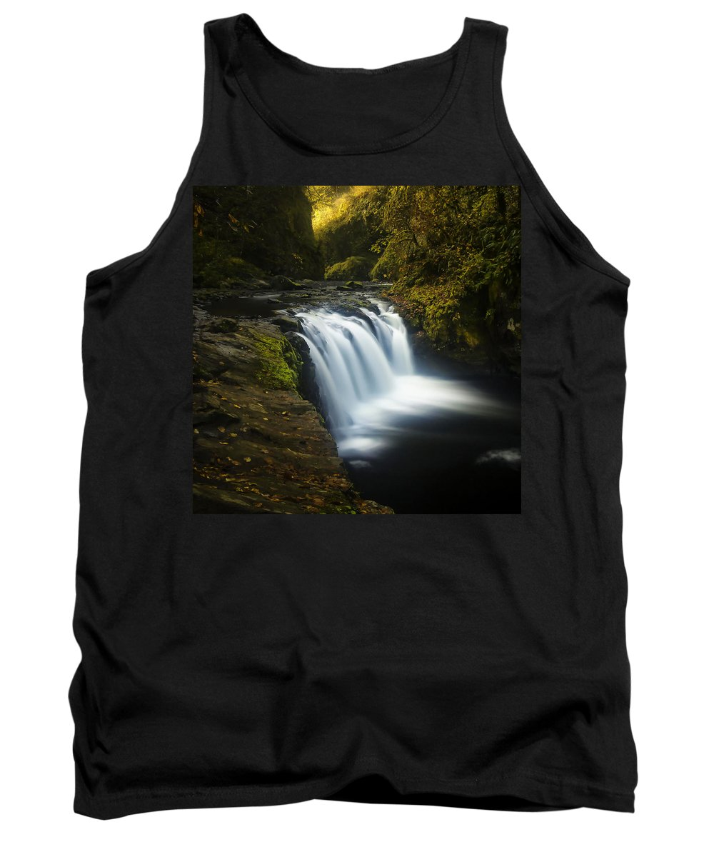 Clearwater Falls Tank Top featuring the photograph Lower Punchbowl Falls 1 by Ingrid Smith-Johnsen