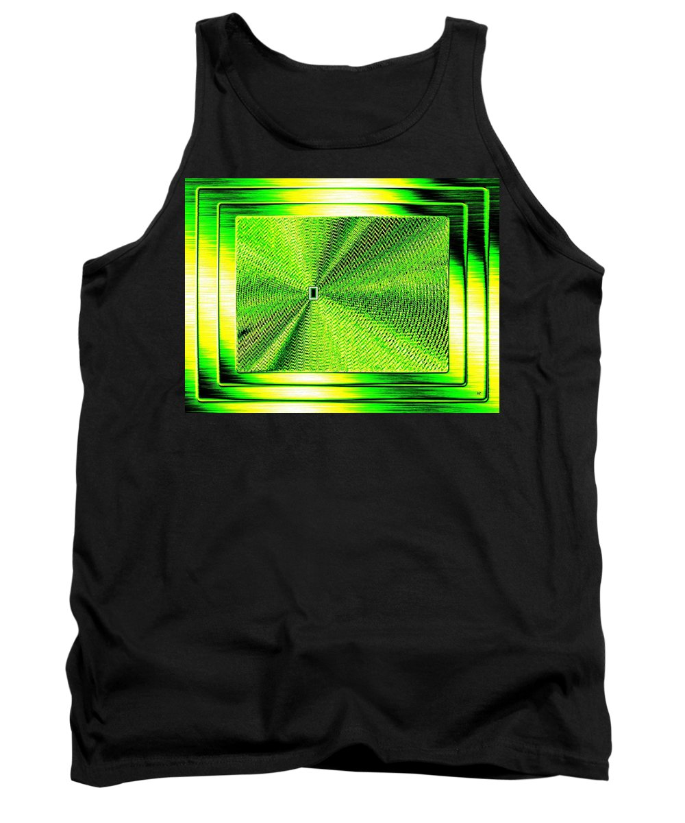 Abstract Tank Top featuring the digital art Luminous Energy 14 by Will Borden