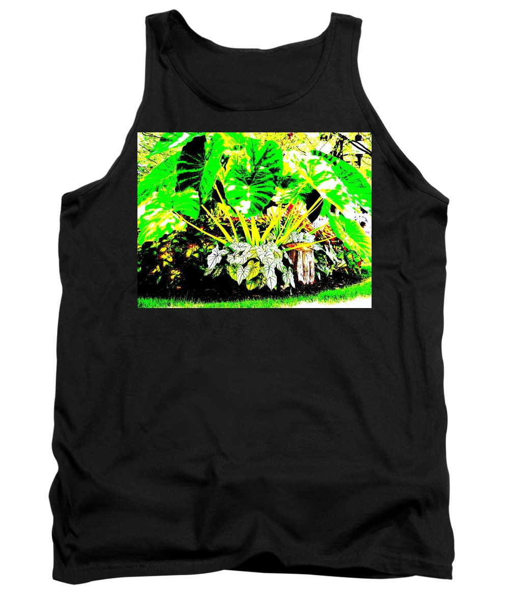 Plants Tank Top featuring the photograph Lush Garden by Ed Smith