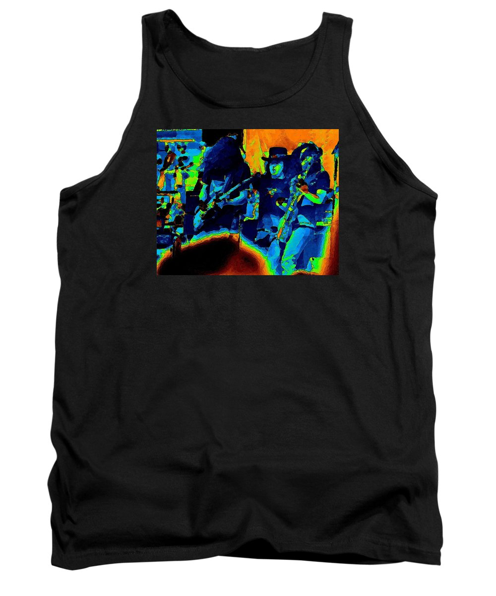Allen Collins Tank Top featuring the photograph L S Pastel Oakland 2 by Ben Upham