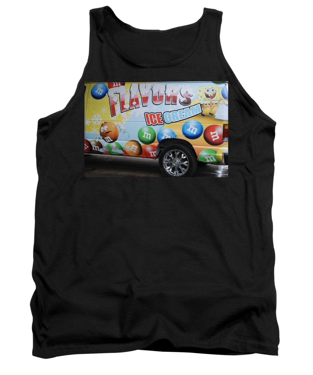 Sponge Bob Tank Top featuring the photograph M And M Flavors For The Kids by Rob Hans