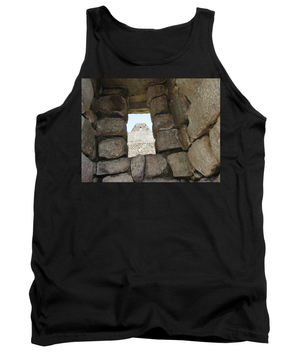 Landscape Tank Top featuring the photograph Macchu Picchu 6 by Sandra Bourret