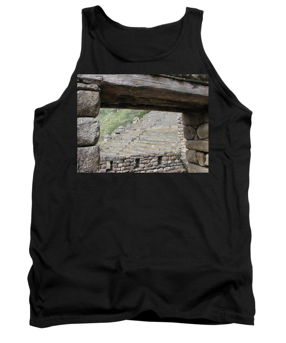Landscape Tank Top featuring the photograph Macchu Picchu11 by Sandra Bourret