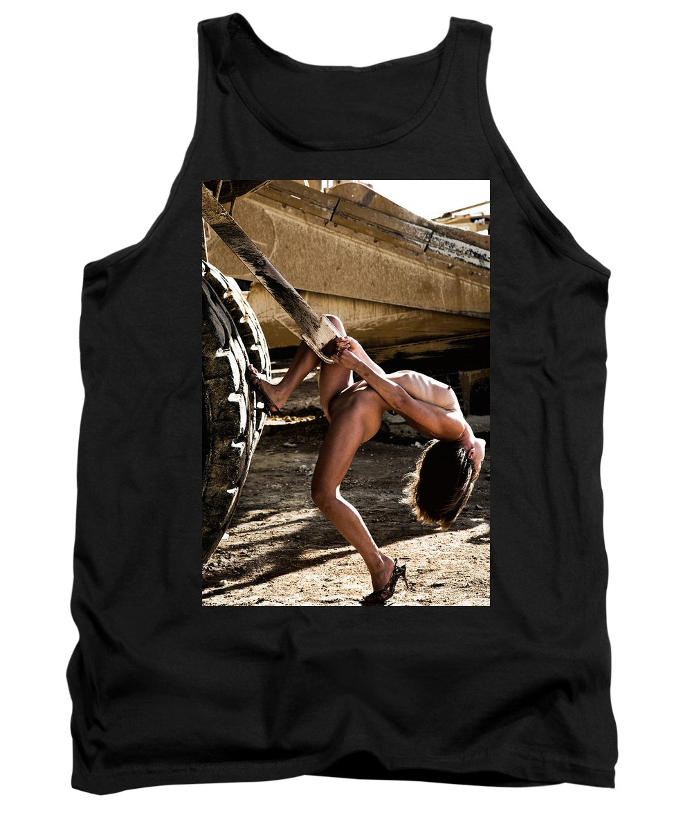 Sensual Tank Top featuring the photograph Machinery by Olivier De Rycke