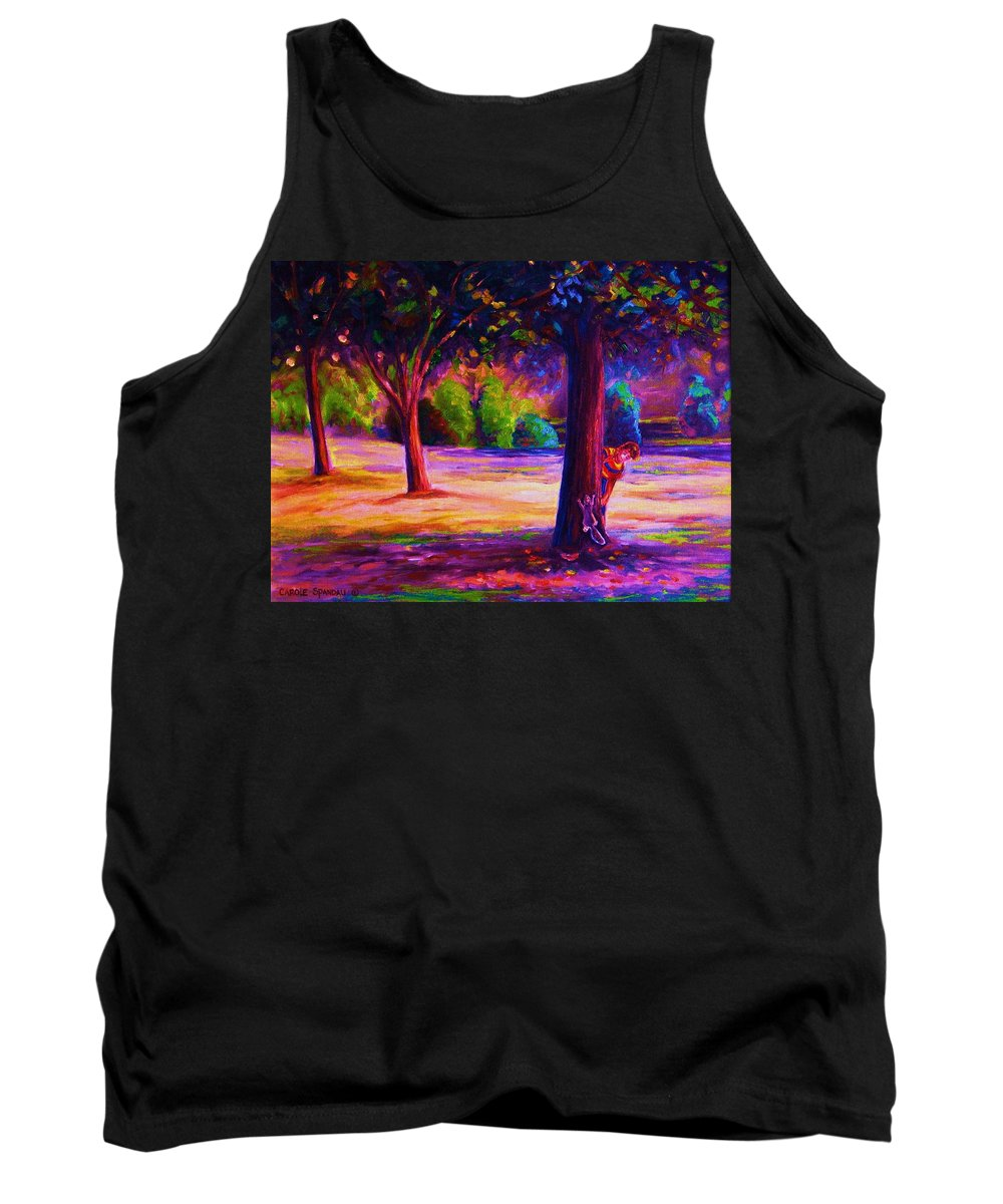 Landscape Tank Top featuring the painting Magical Day In The Park by Carole Spandau