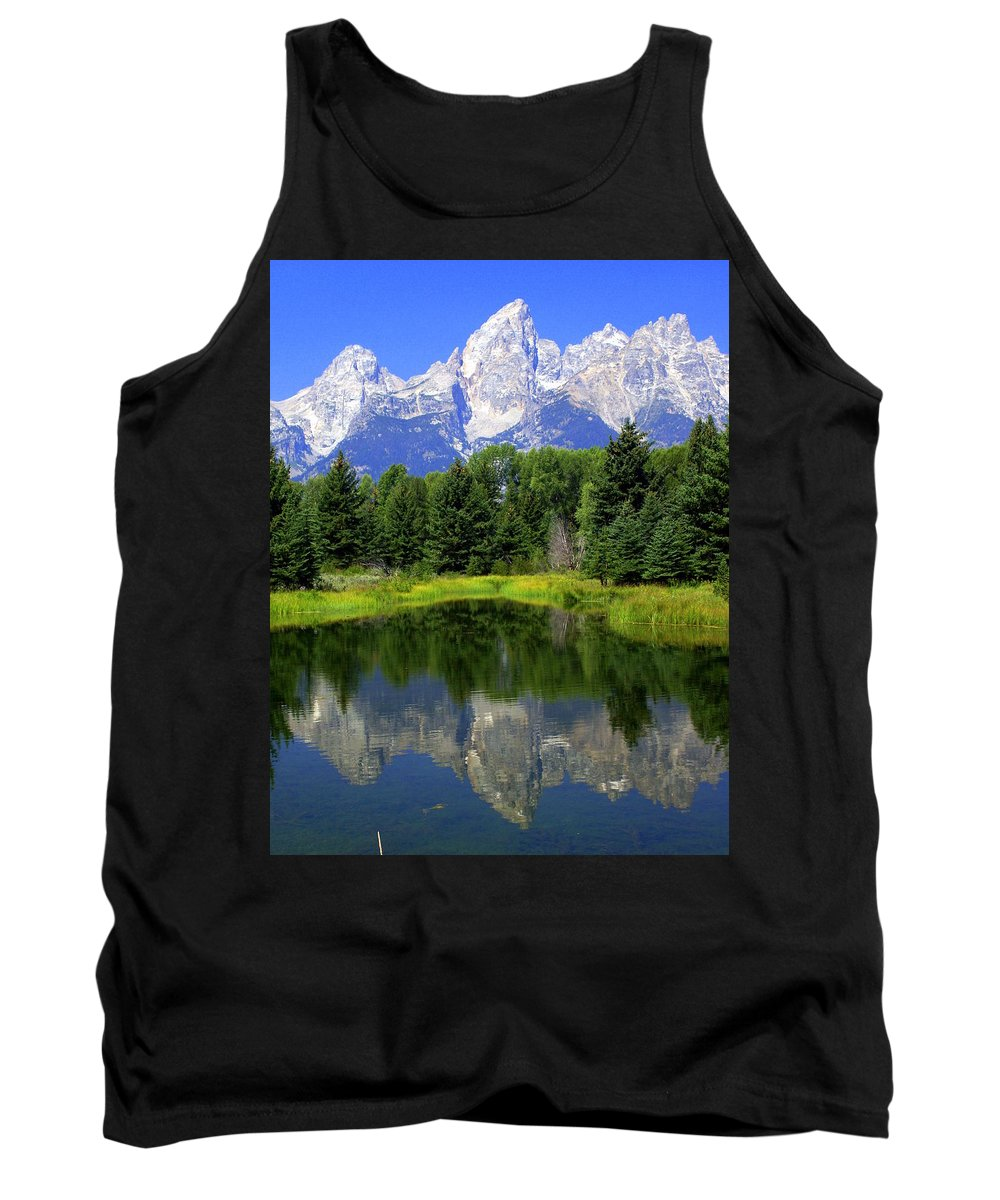 Grand Teton National Park Tank Top featuring the photograph Majestic Tetons by Marty Koch