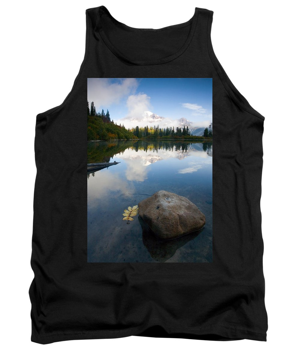 Rainier Tank Top featuring the photograph Majesty Hidden by Mike Dawson