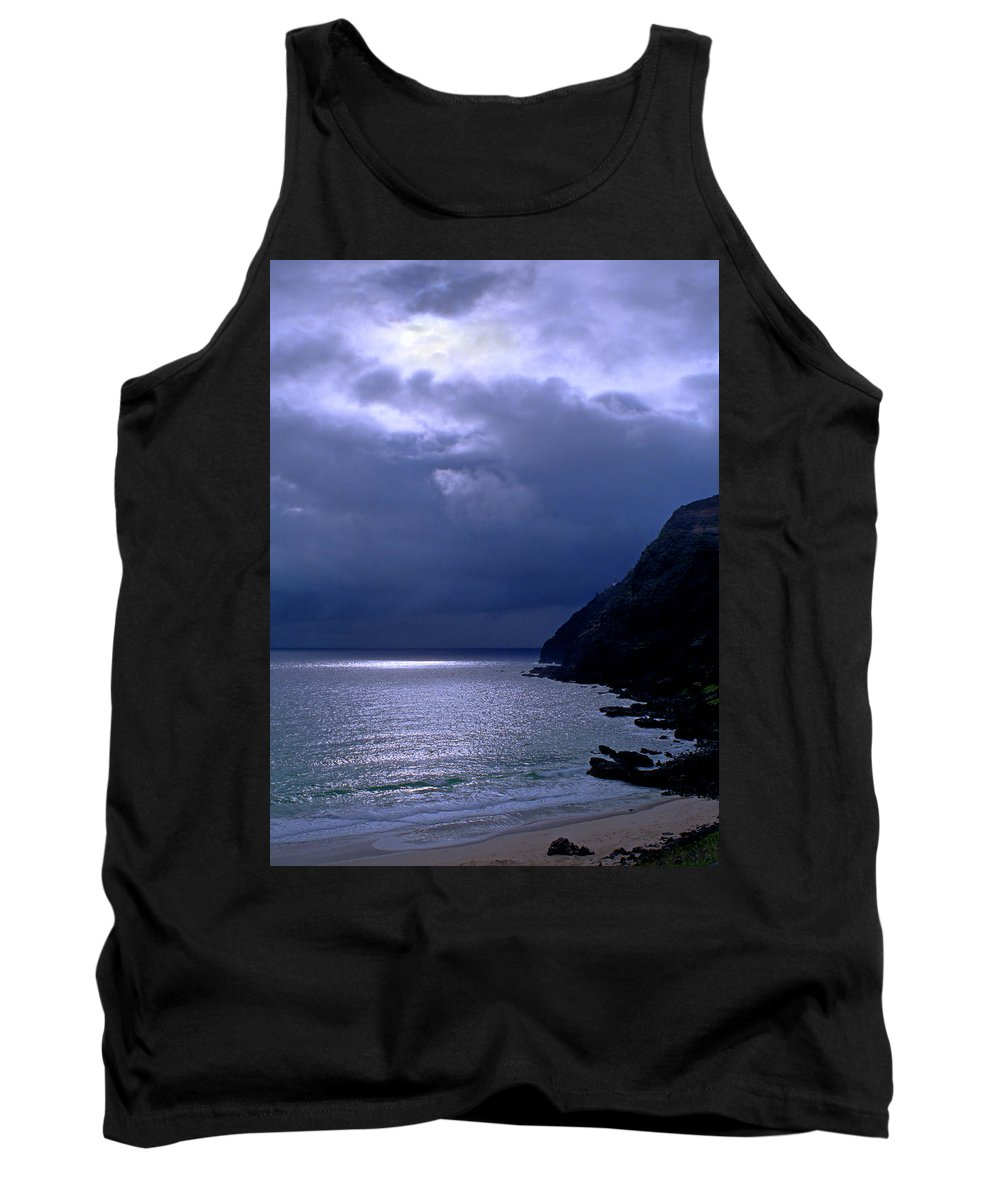 Makapuu Tank Top featuring the photograph Makapuu Moon by Kevin Smith