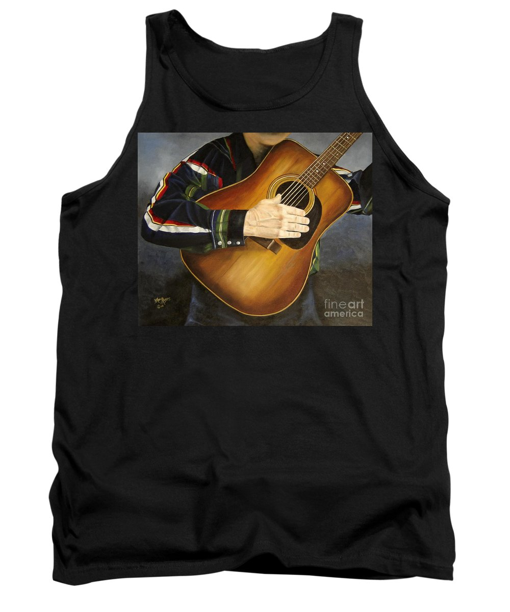 Usa Tank Top featuring the painting Making Music by Mary Rogers