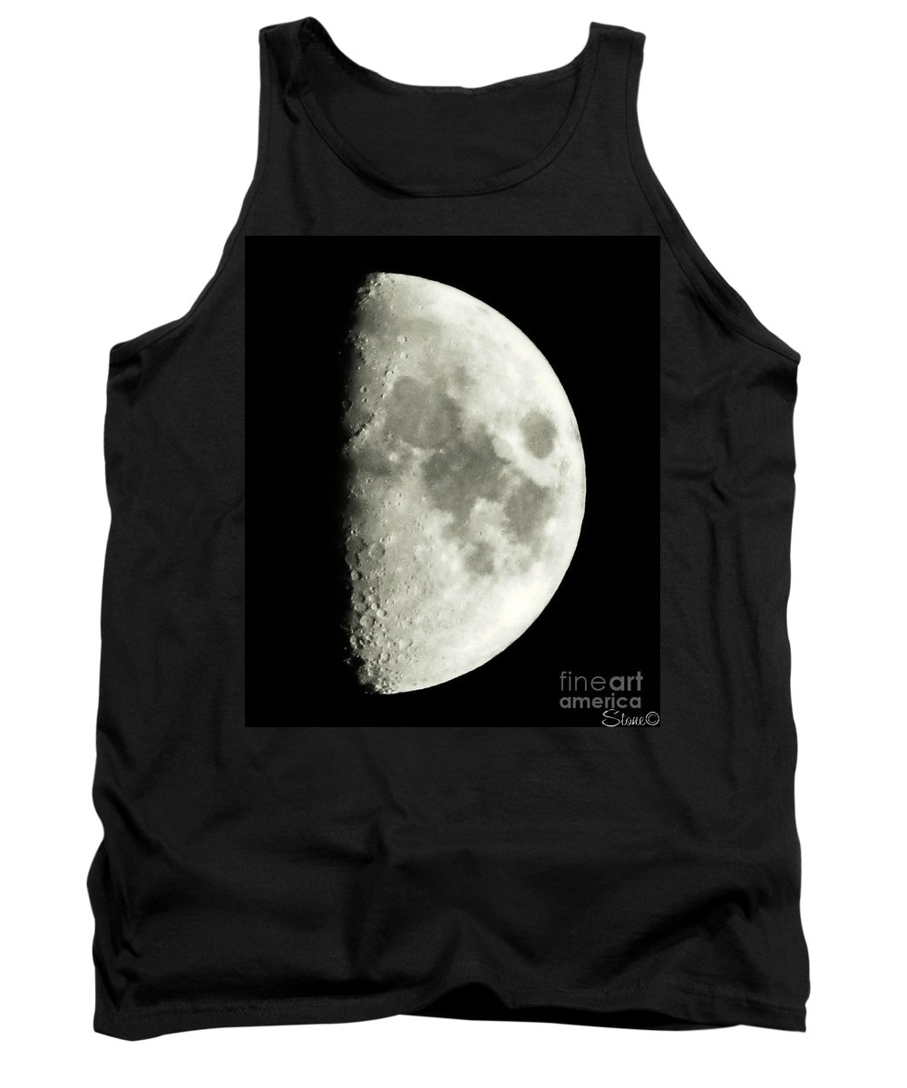 Lunar Tank Top featuring the photograph Man In The Moon by September Stone