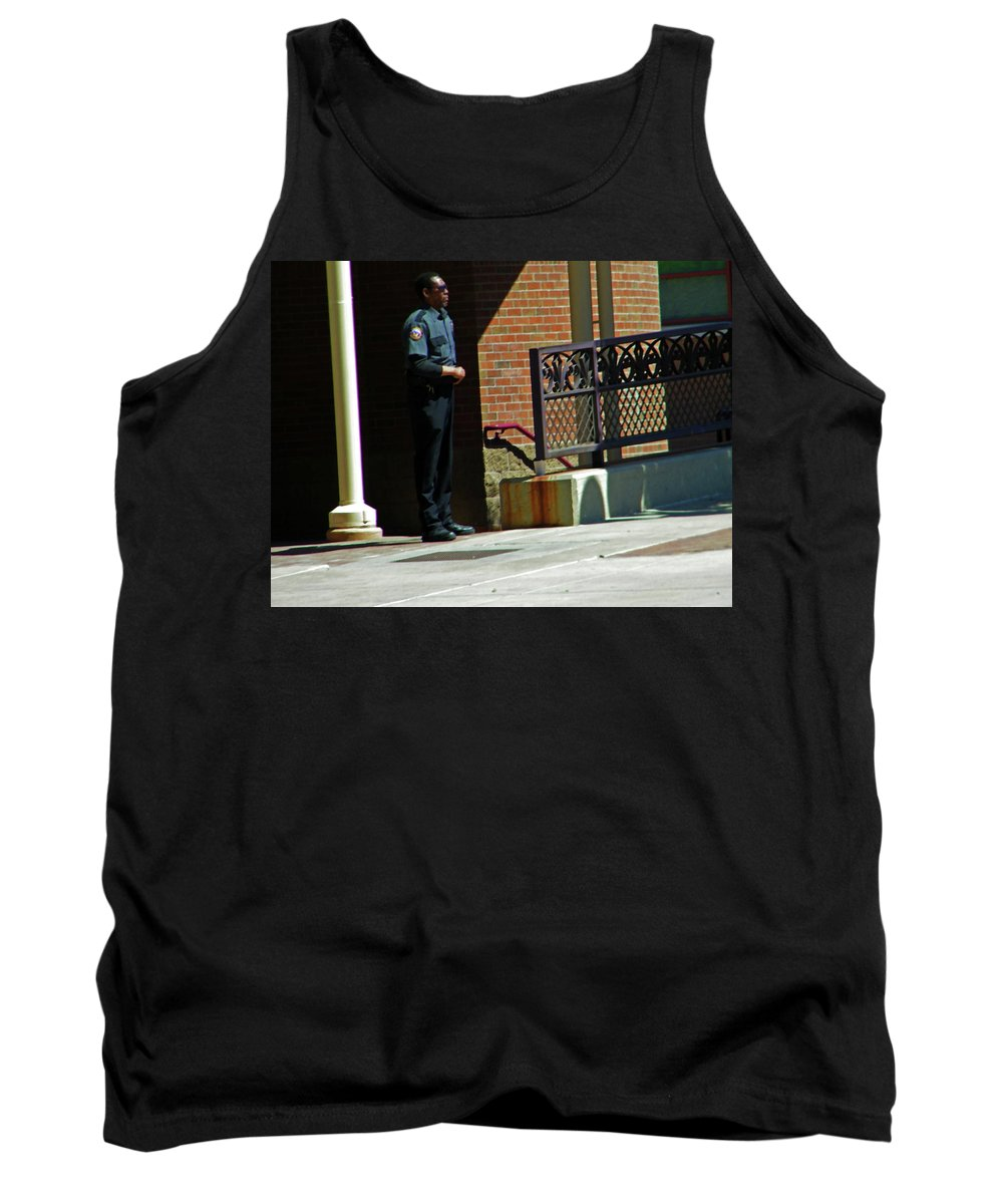 Abstract Tank Top featuring the photograph Man In Uniform by Lenore Senior