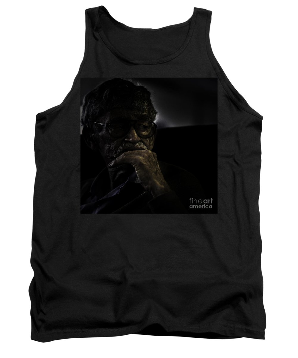 Portrait Tank Top featuring the photograph Man On Ferry by Sheila Smart Fine Art Photography