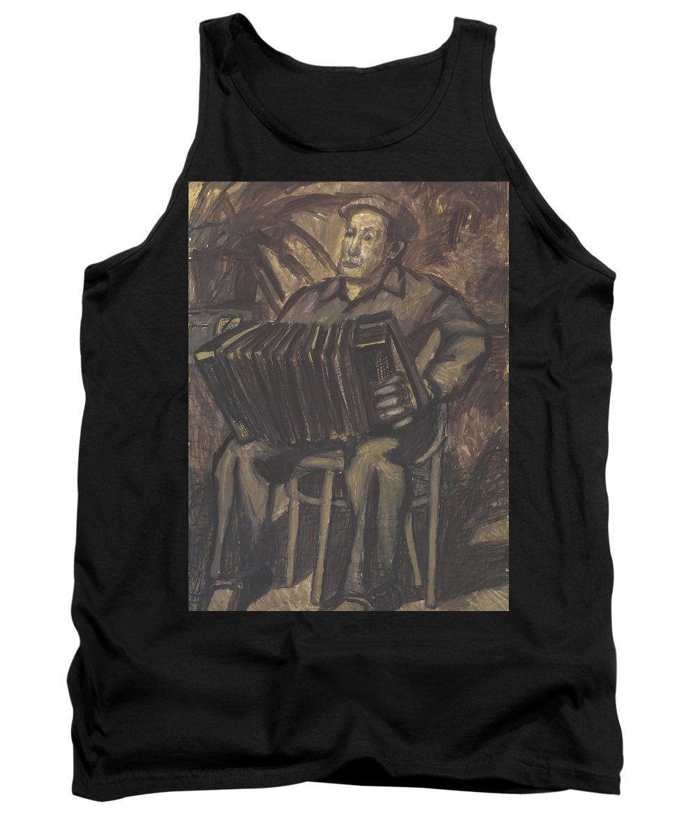People Tank Top featuring the painting Man by Robert Nizamov