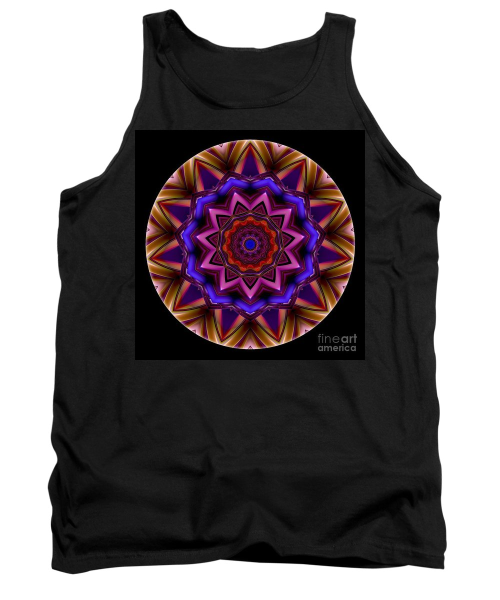 Talisman Tank Top featuring the digital art Mandala - Talisman 1439 by Marek Lutek