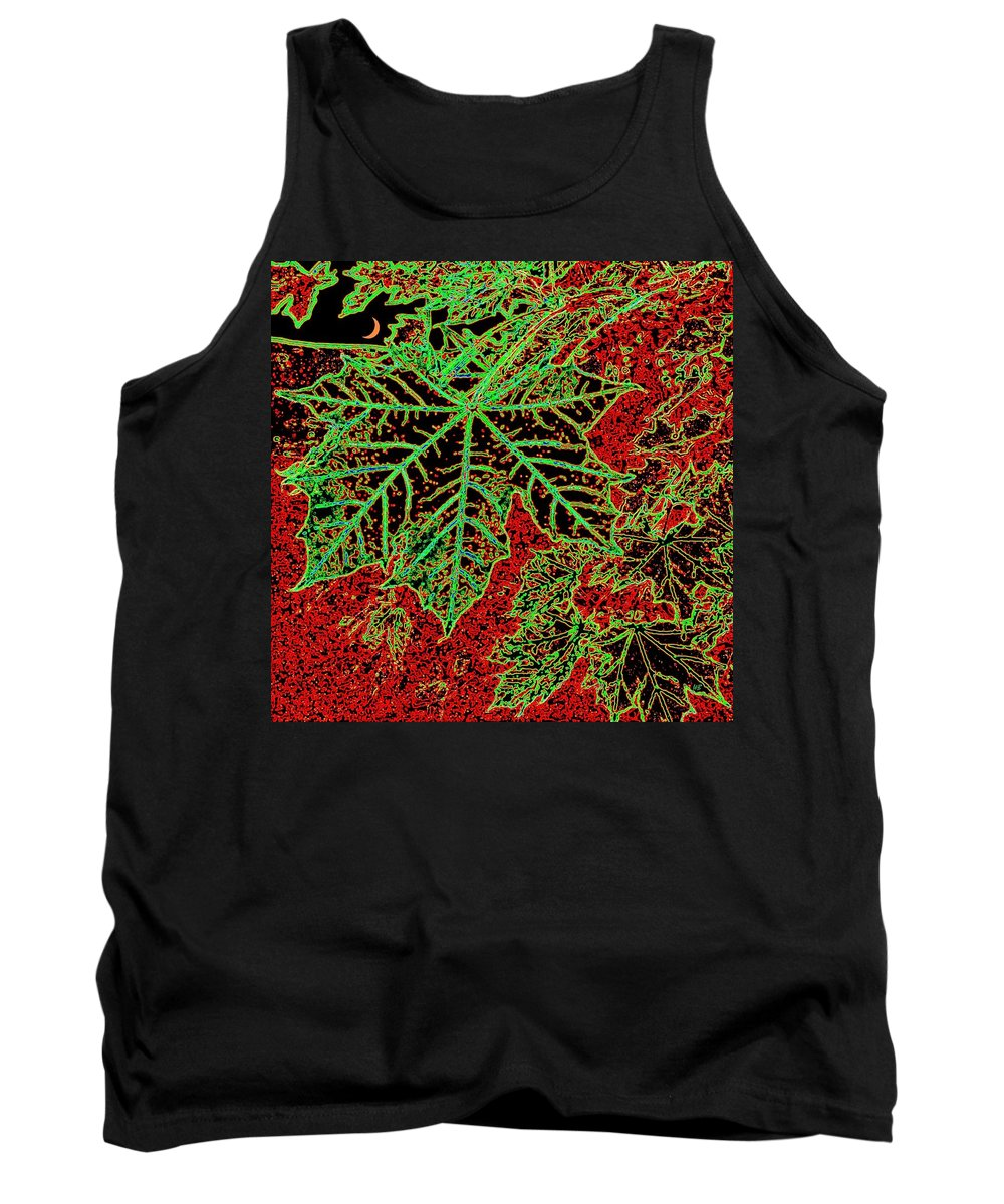 Cheerful Tank Top featuring the digital art Maple Mania 7 by Will Borden