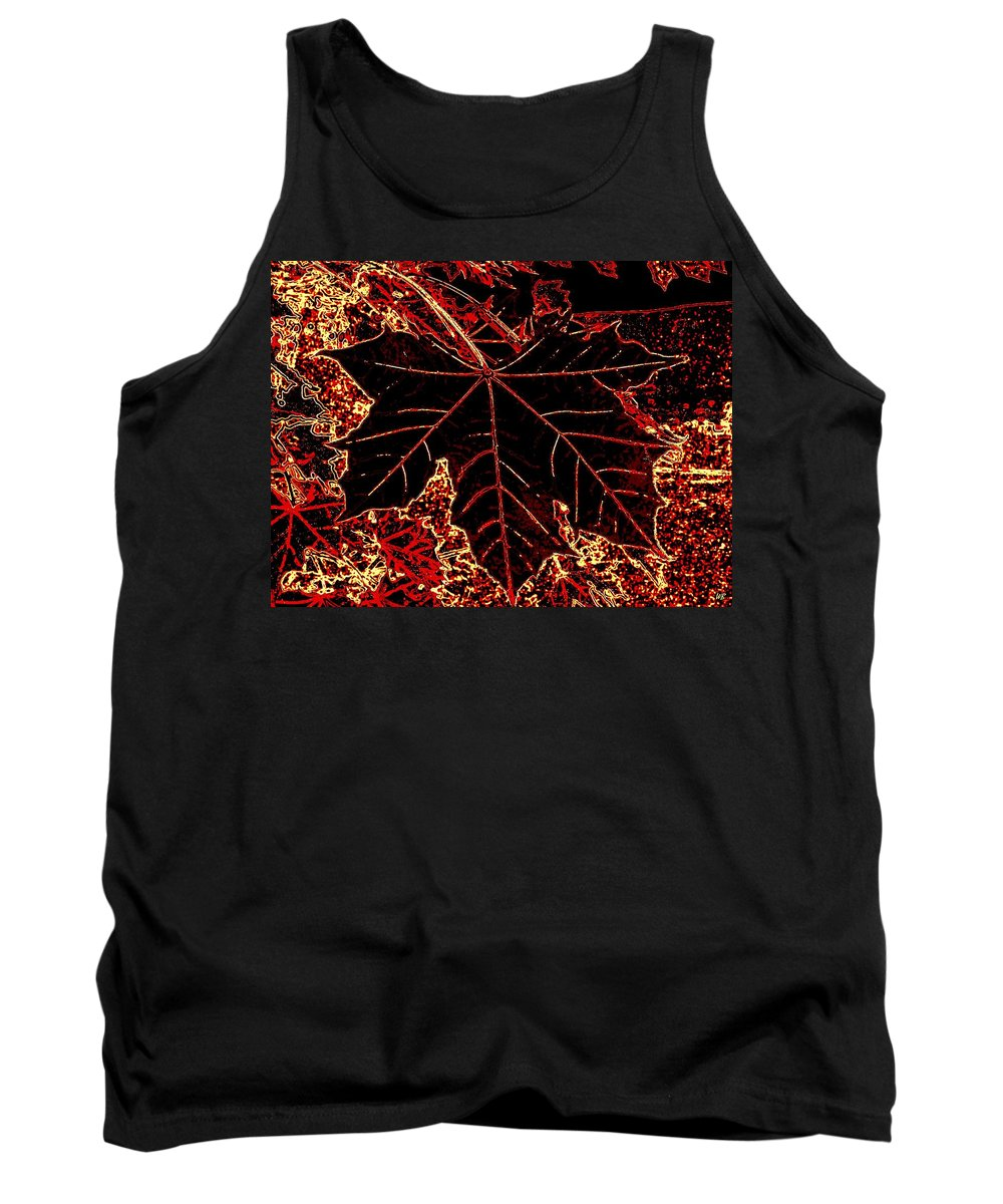 Cheerful Tank Top featuring the digital art Maple Mania 9 by Will Borden