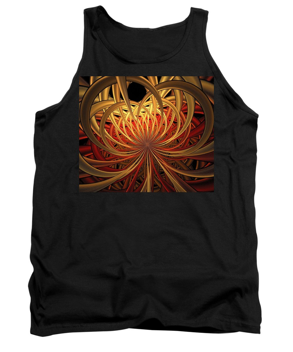 Digital Art Tank Top featuring the digital art Marigold by Amanda Moore
