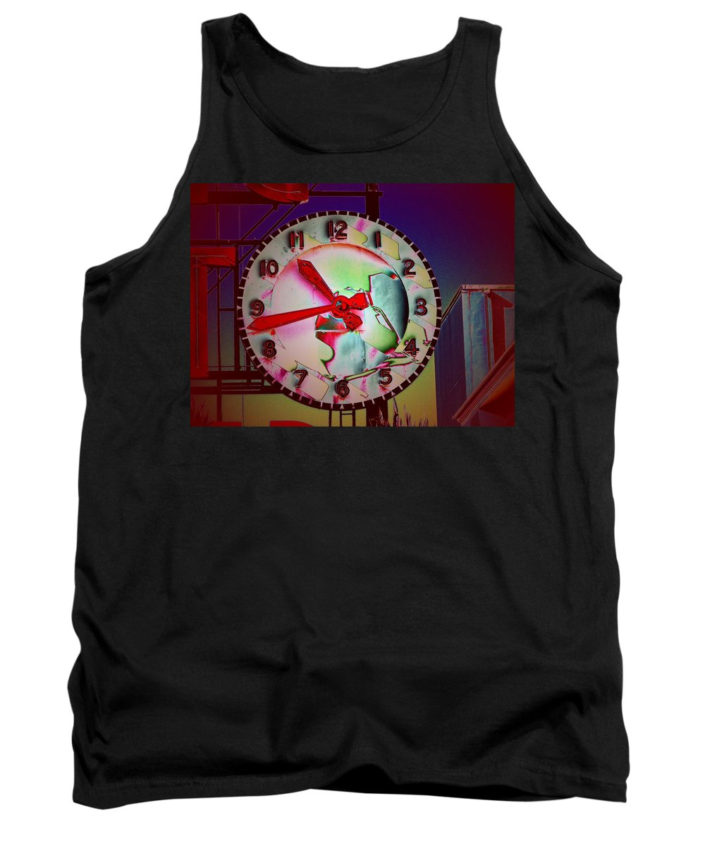 Seattle Tank Top featuring the digital art Market Clock 3 by Tim Allen