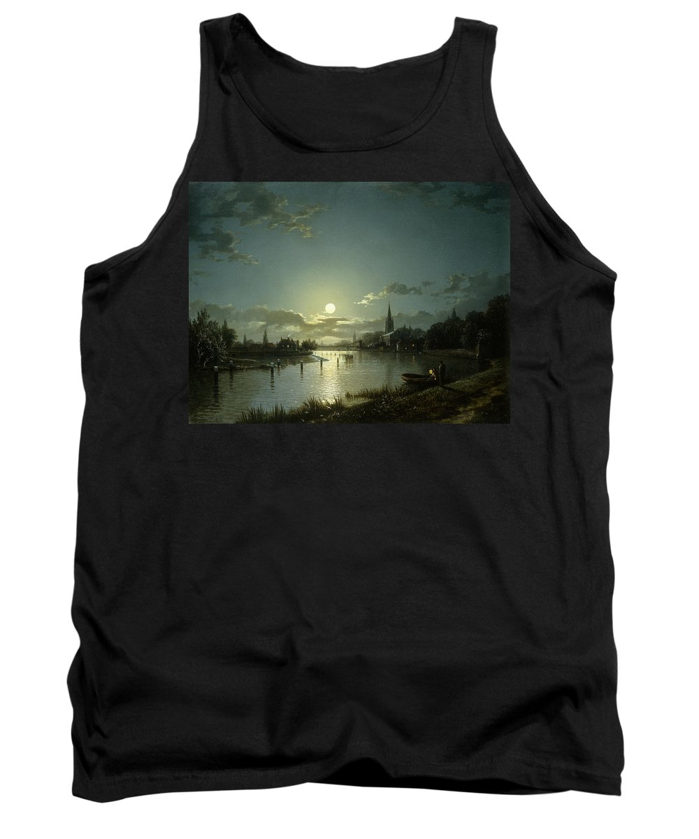 Marlow On Thames Tank Top featuring the painting Marlow On Thames by Hnery Pether