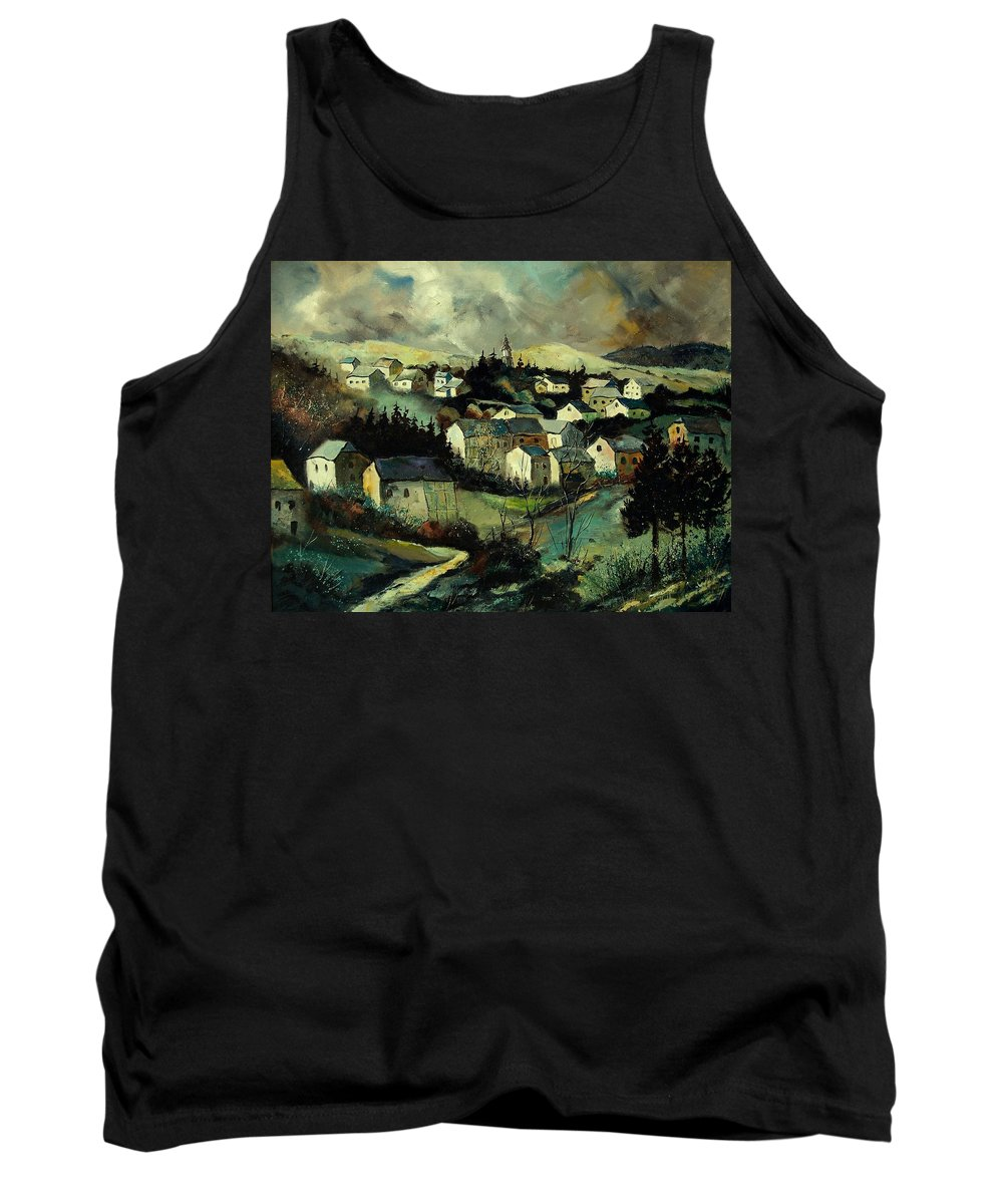 Winter Tank Top featuring the painting Masbourg by Pol Ledent