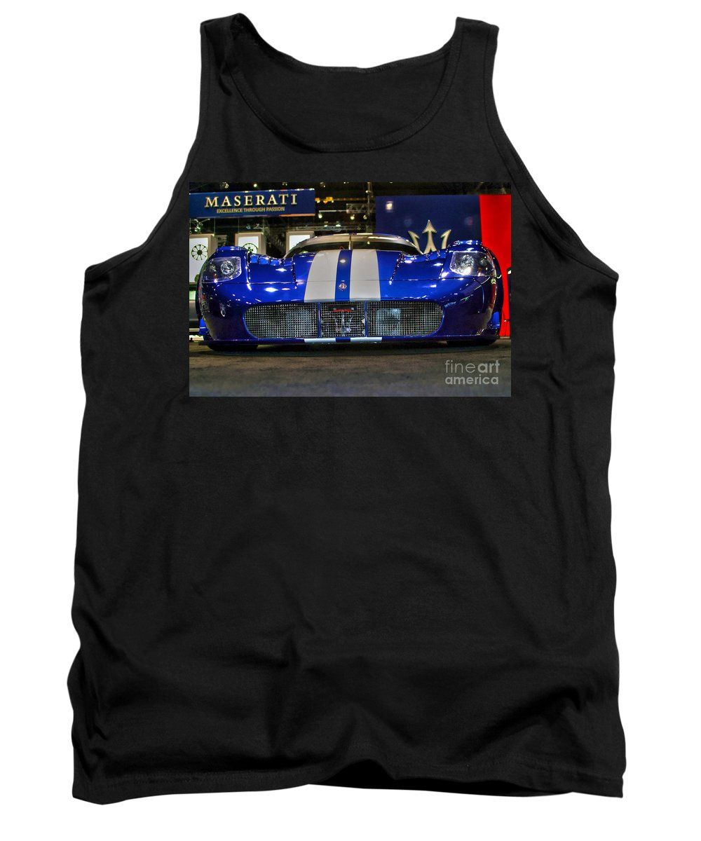 Auto Tank Top featuring the photograph Maserati Racer by Alan Look