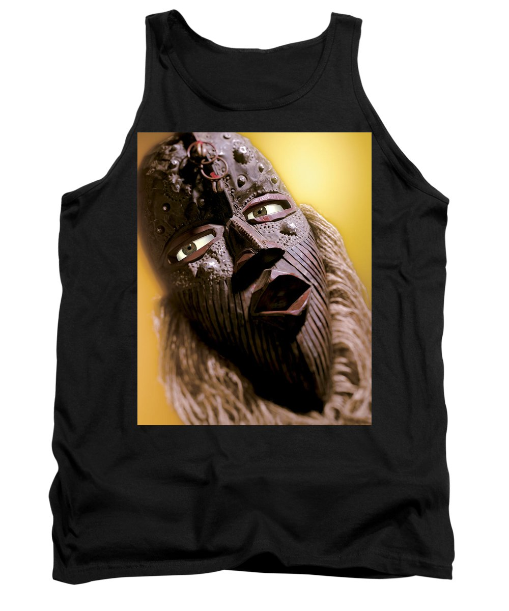 African Mask Tank Top featuring the photograph Mask by Kelley King
