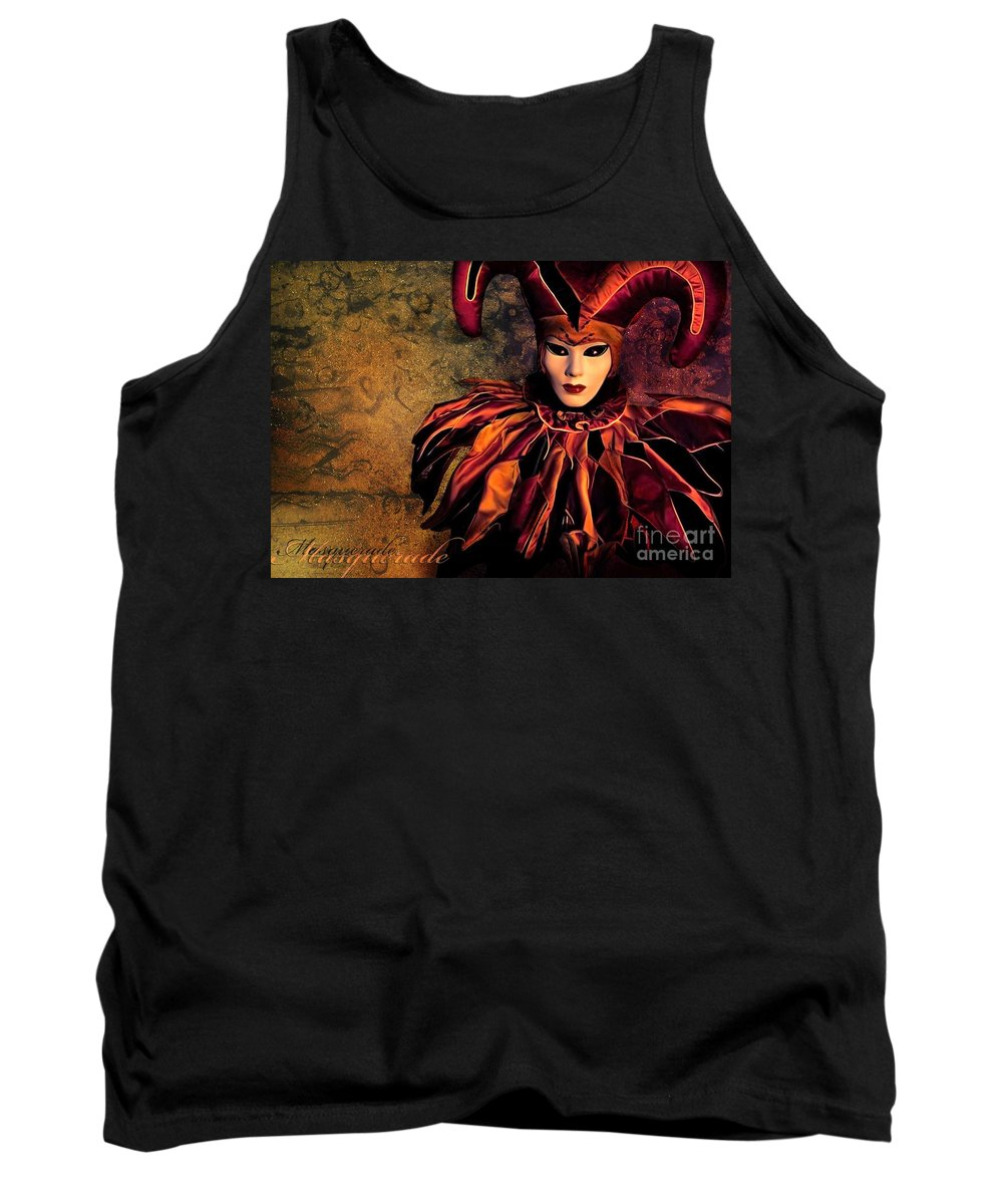 Mask Tank Top featuring the photograph Masquerade by Jacky Gerritsen