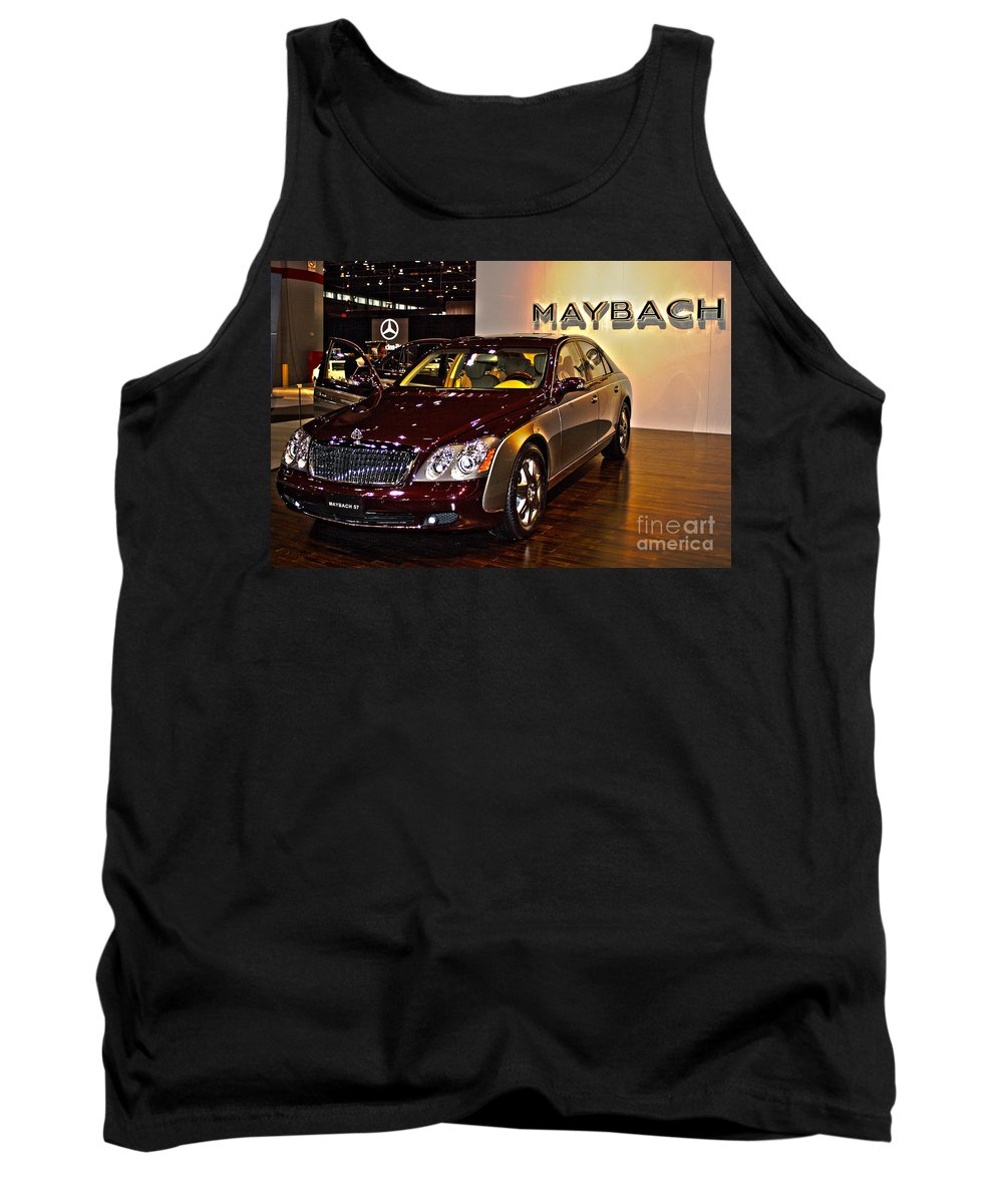 Car Tank Top featuring the photograph Maybach Limo by Alan Look